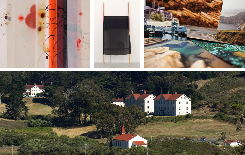 Cynthia Ona Innis, Liam Everett and are only a few of the visual artists participating in the Headland's Open House located at Fort Barry in the Marin Headlands.