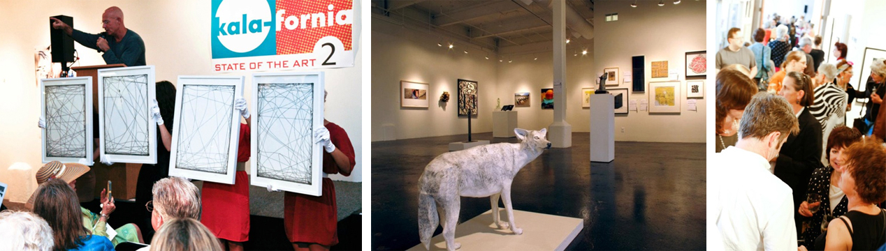 images from last year's Kala-fornia: State of the Art 2 exhibition and auction.