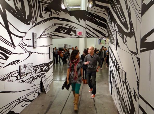 Visitors arriving to last year's CCA MFA Exhibition.  source: www.artbusiness.com