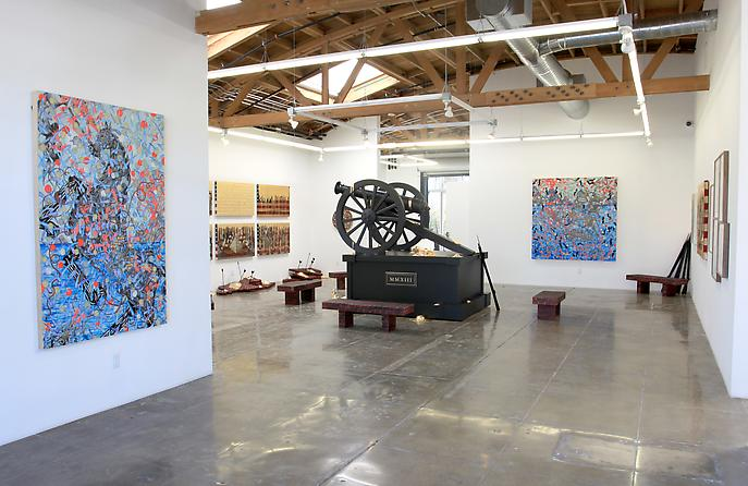 """Installation shot of """"Fallout"""" from Mark Moore Gallery, Los Angeles.  Source: www.markmooregallery.com"""