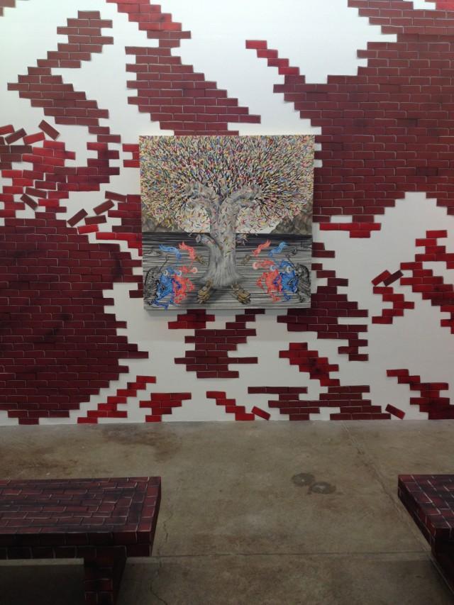 Andrew Schoultz's immersive installation at Morgan Lehman Gallery
