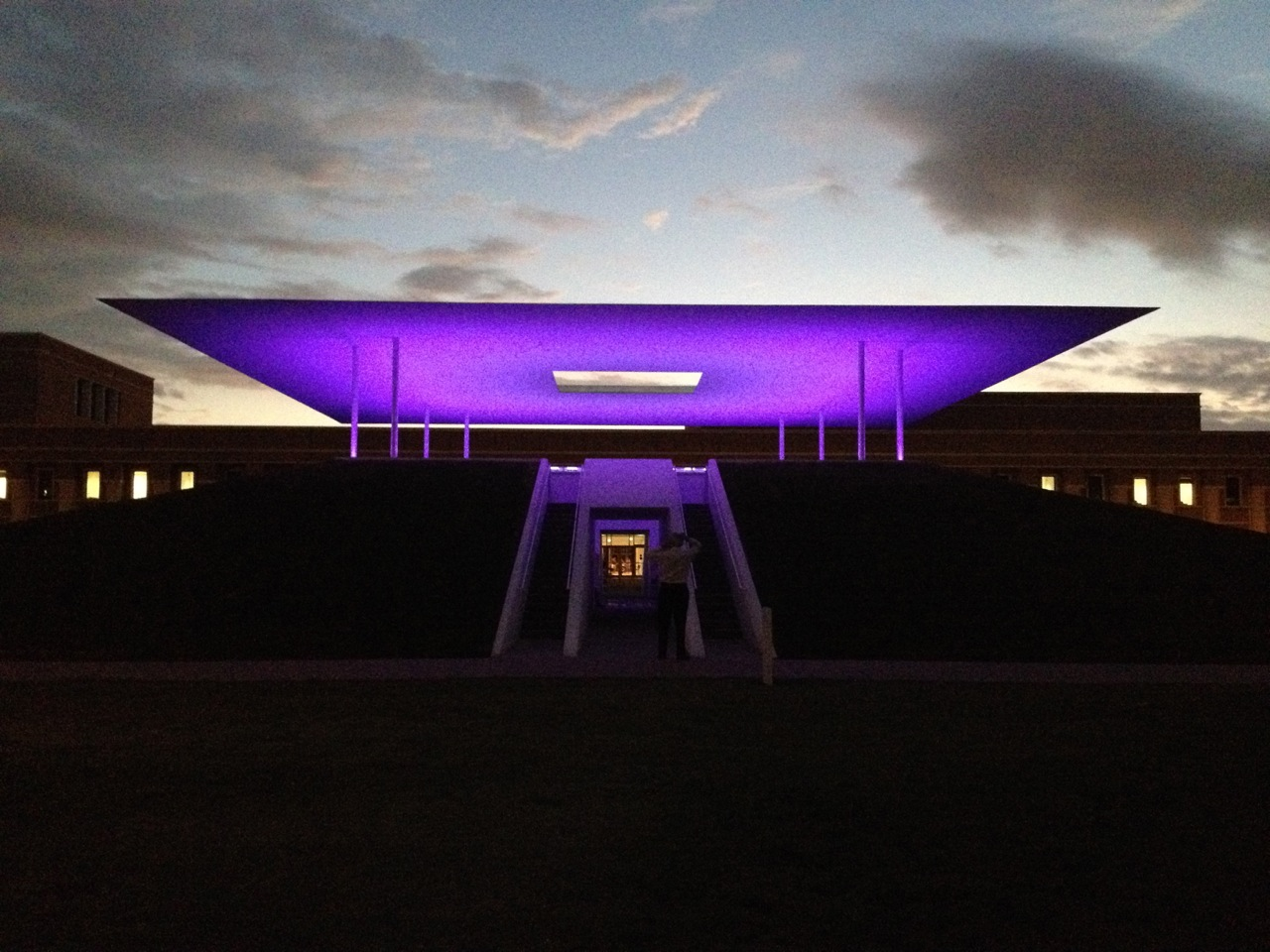 Outside view of the James Turrell Skyspace