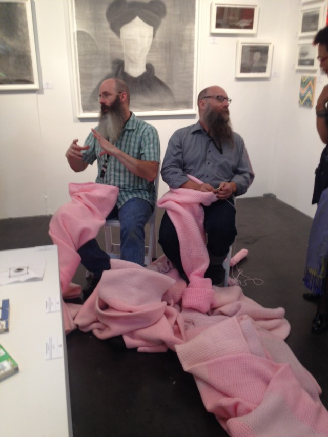 Miller & Shellabarger live knitting at Western Exhibitions