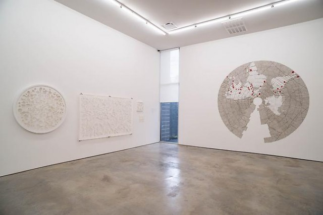 "Miguel Angel Rios ""Folding Borders"" installation view"