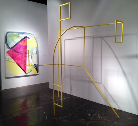 Andrew Holmquist painting and sculpture at Carrie Siecrest Gallery