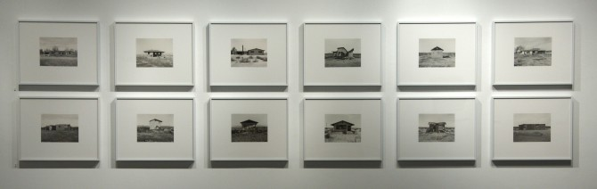 "Mark Ruwedel, ""Desert Houses"" 2004 - 2013, gold toned gelatin silver prints at  Gallery Luisotti"