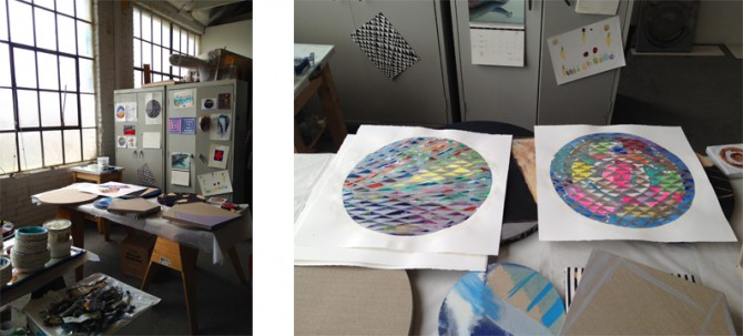 New works on paper in the studio of Pamela Jorden