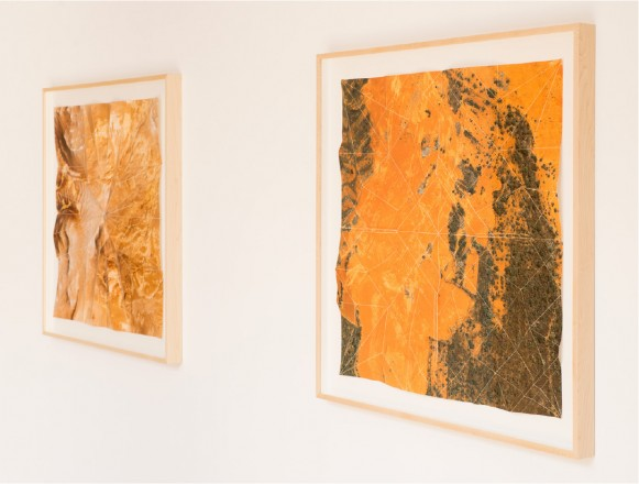 "Clarissa Tossin, ""Study for a Landscape"" 2012 series, folded archival inkjet prints at Samuel Freeman Gallery"