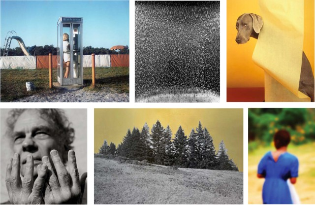 A selection of photographs featured in the SF Camerawork Benefit Auction.  Top row:  John Goodman, Klea McKenna, William Wegman.  Bottom row:  Herb Ritts, Alice Shaw, Alfredo Jaar.  Courtesy of SF Camerawork.