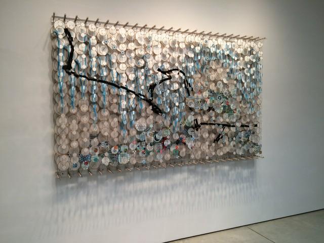 Jacob Hashimoto at Mary Boone Gallery.