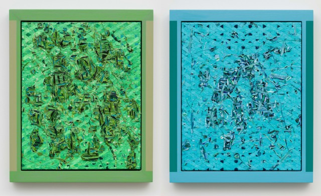 Douglas Melini, 'Untitled' 2014, acrylic and oil on canvas with hand-painted frames at Eleven Rivington Gallery.