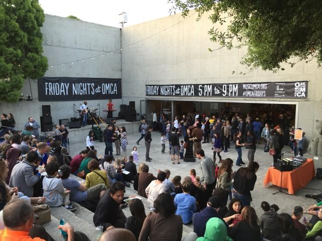 The scene at Friday Nights at OMCA