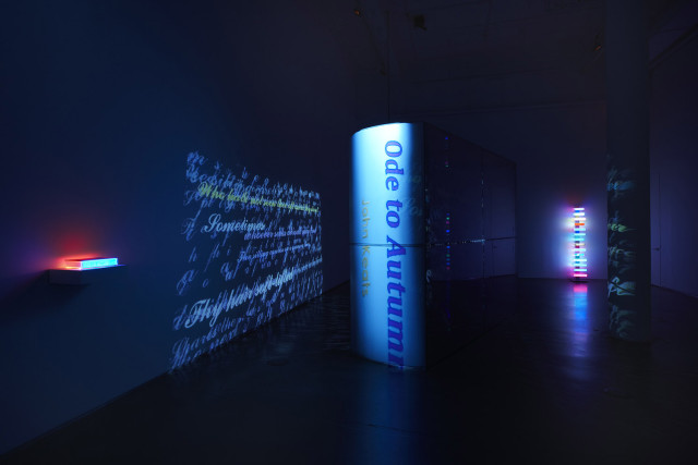 installation 'The Luminous Poem'.  Image courtesy of Bryce Wolkowitz Gallery.