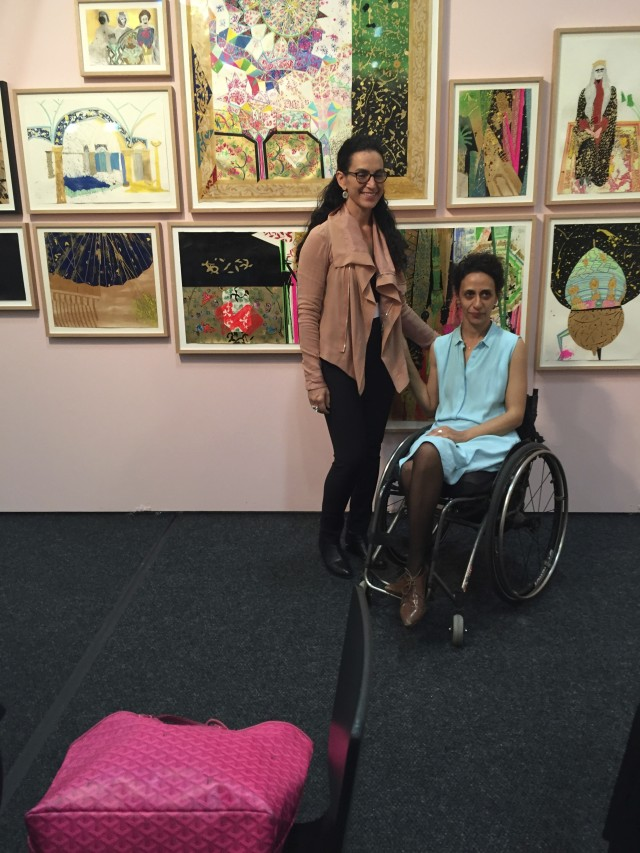 Artist Elham Rokni and dealer