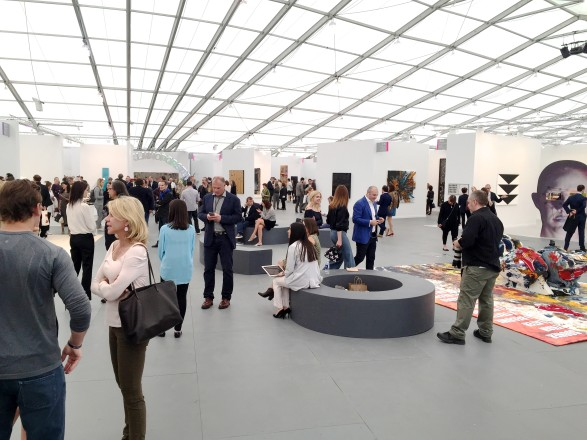 Interior view of Frieze New York art fair.