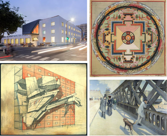 The new BAMPFA building and selection of works included in Architecture of Life. Images courtesy of BAMPFA.