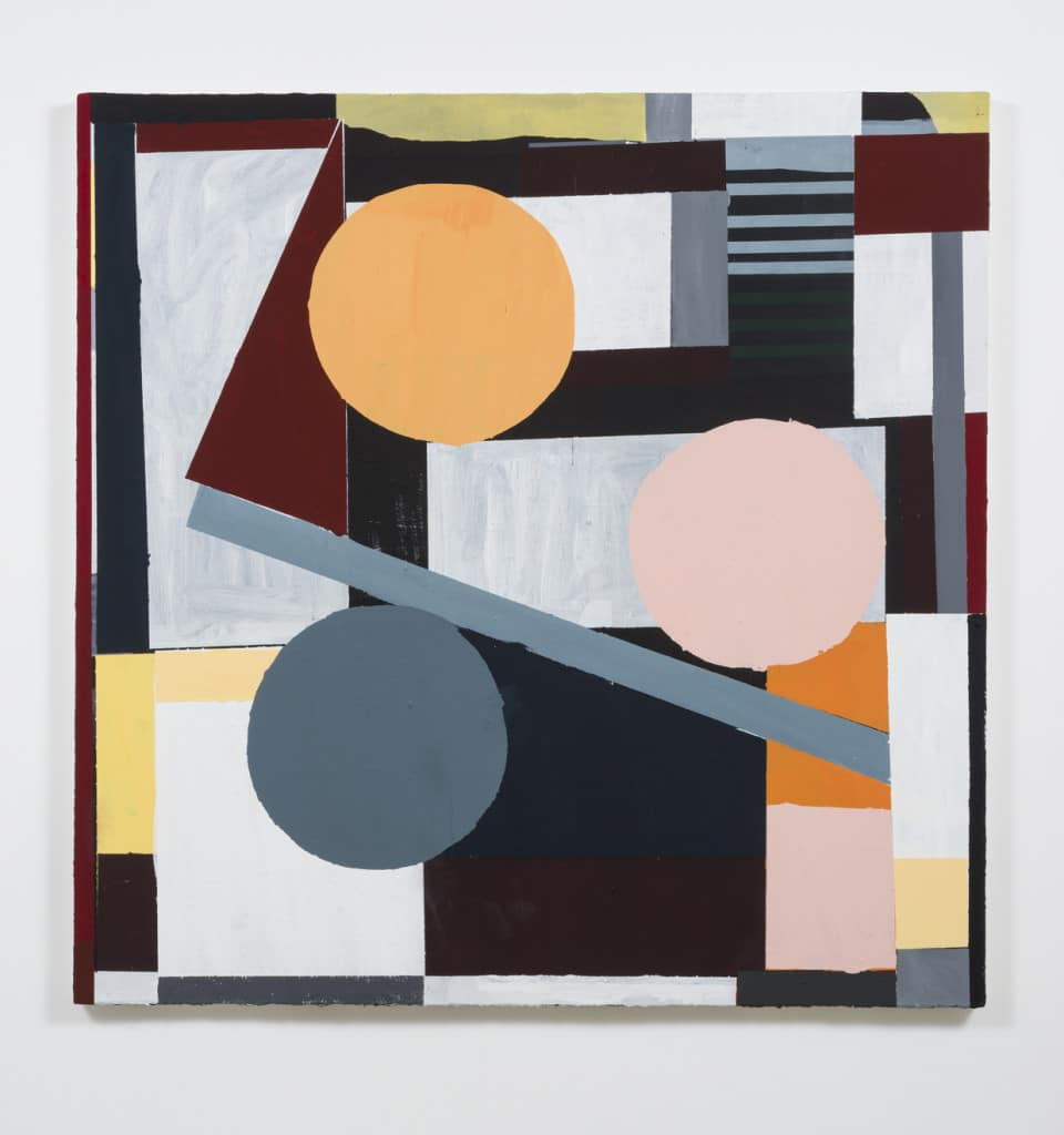Nick Aguayo, Untitled, 2015, acrylic and marble dust on canvas. photo courtesy Susanne Vielmeter Projects