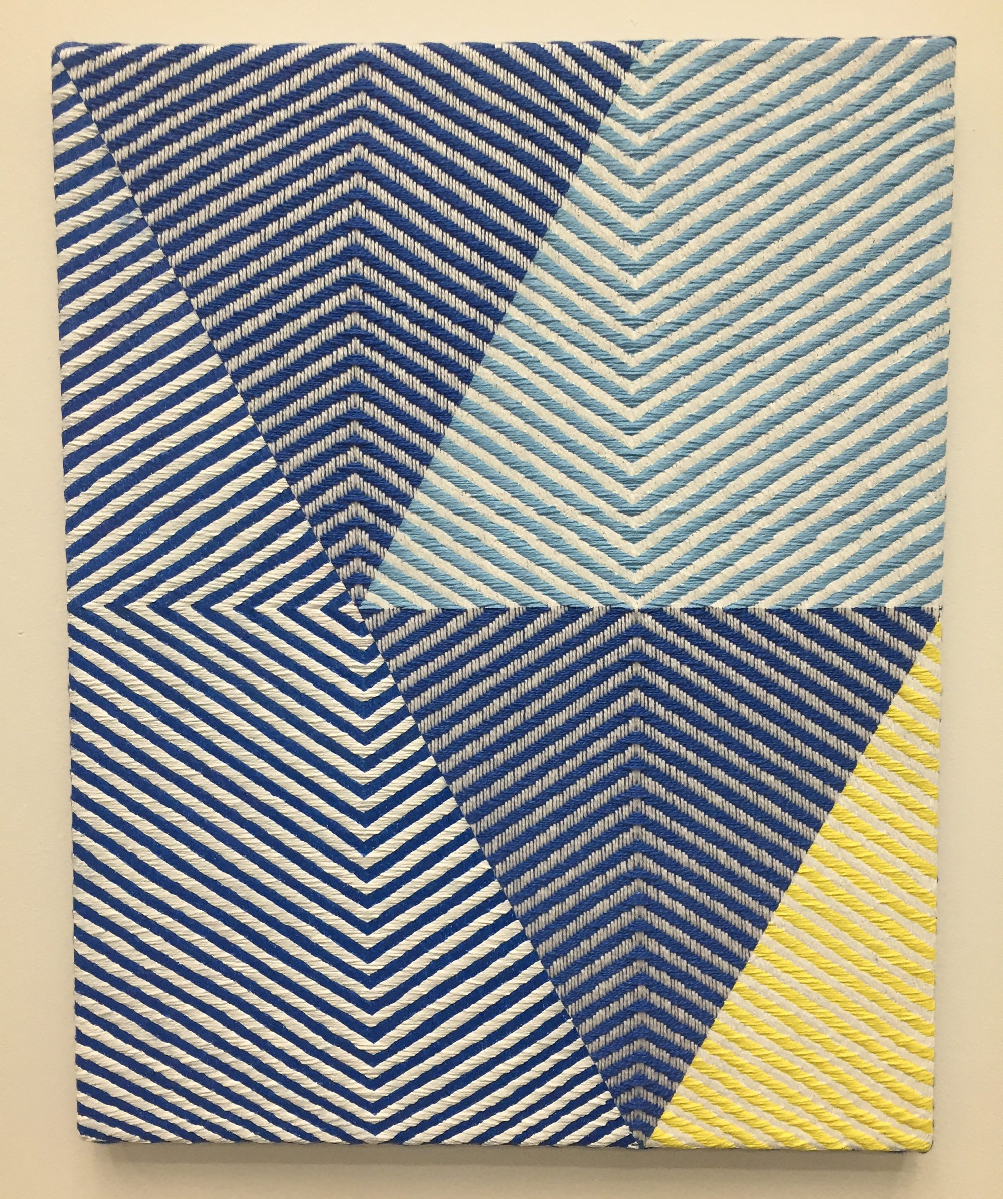 Samantha Bittman, Untitled, acrylic on handwoven textile
