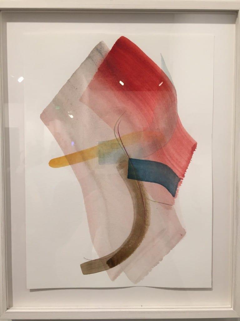 Henrik Eiben, Tiderays 2, 2015, watercolor, crayon on paper