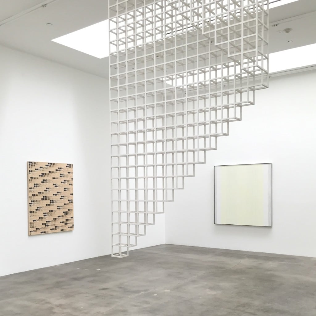installation, Blum & Poe, Dansaekhwa and Minimalism, Lee Ufan, Sol Lewitt, Agnes Martin