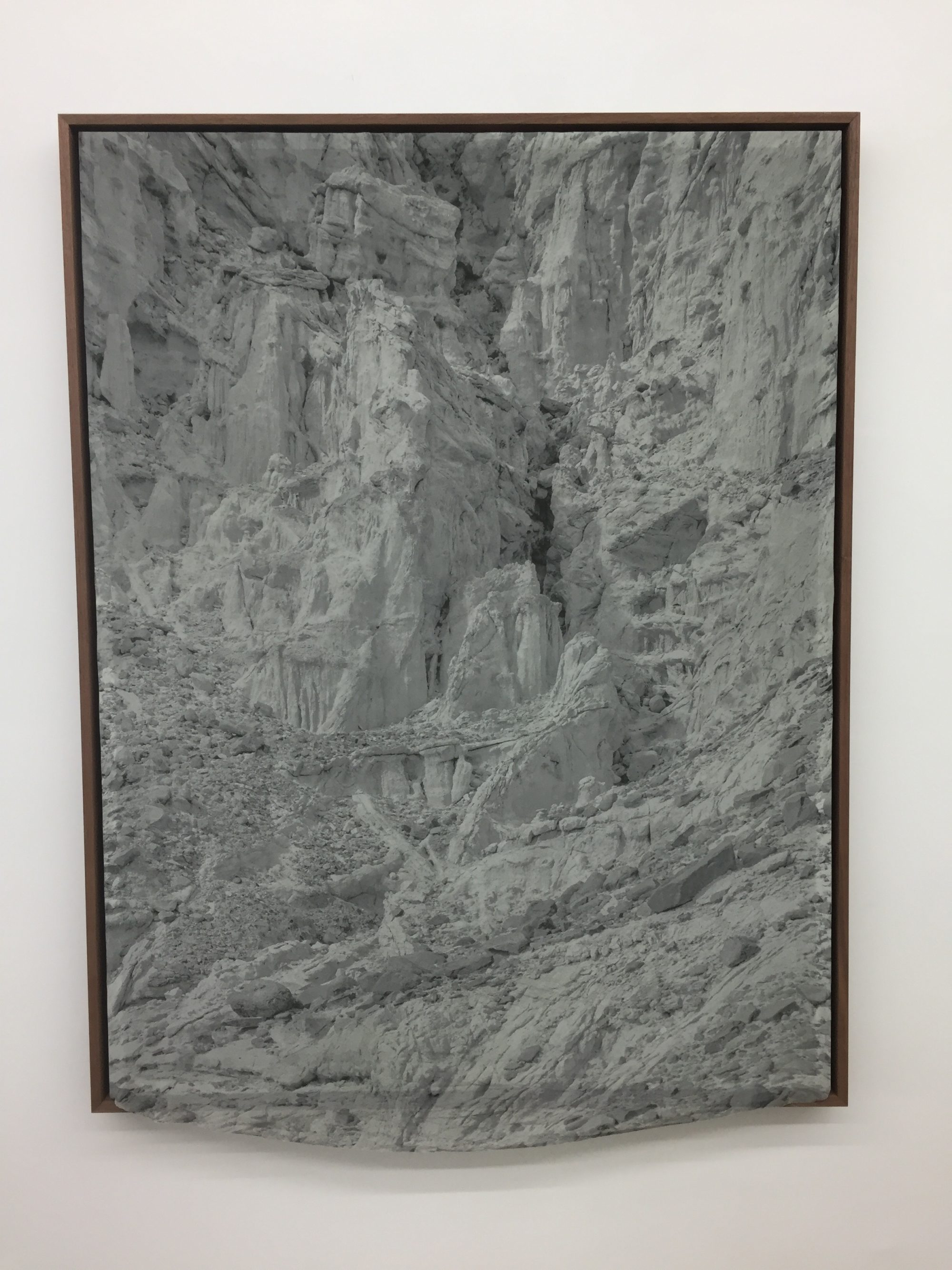 The White Place, #27, 2015, archival pigment print on silk,poplar, acrylic paint