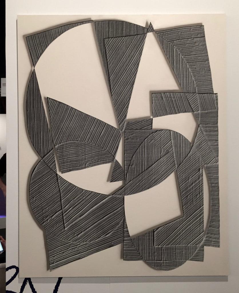 Amir Nikravan, Mask IV, 2015, acrylic on fabric over aluminum