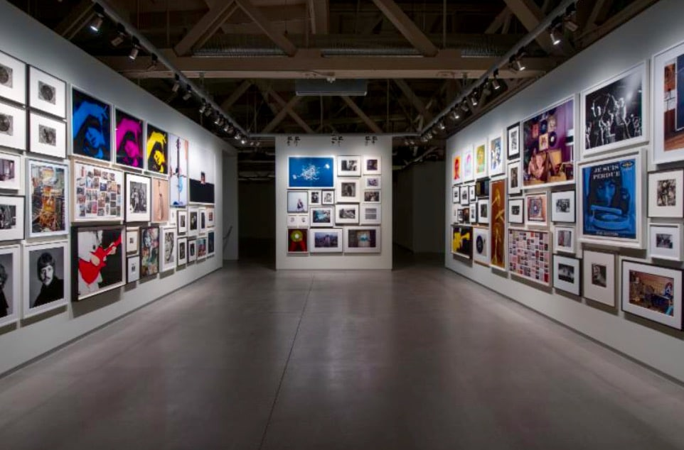 """Installation view of """"Collected"""" at Pier 24 Photography."""