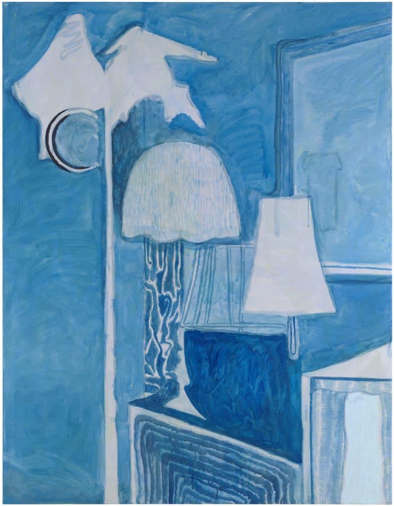 Roßner, Christoph: Piano nights, 2015, Acryl auf Leinwand, 200x155 cm Foto: Herbert Boswank